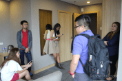 The bloggers meet at the Premiere Suite