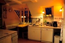 la cucina di sera