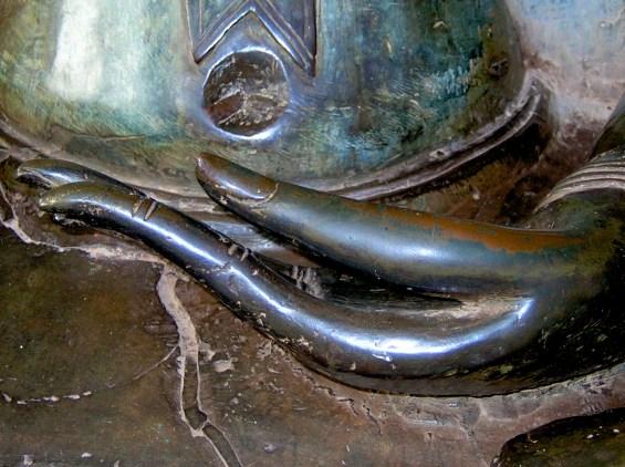 Hand resting in lap - Buddha Statue, Vientiane