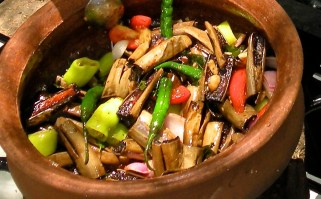 Vambotu Pahi - Eggplant pickle, really a pickled dry curry