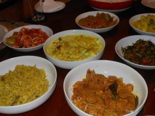 A feast! Kos malung, and kos curry, nelum ala, dambala dry curry, alu keel , cuttlefish ...