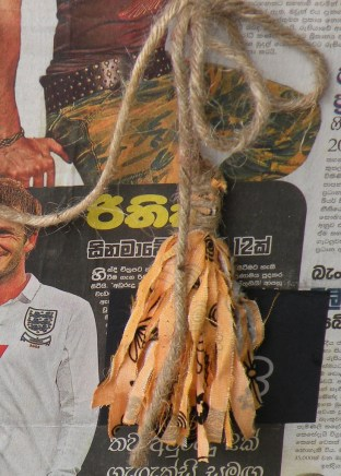 David Beckham and defined abs aside, tassles from shredded offcuts and jute string