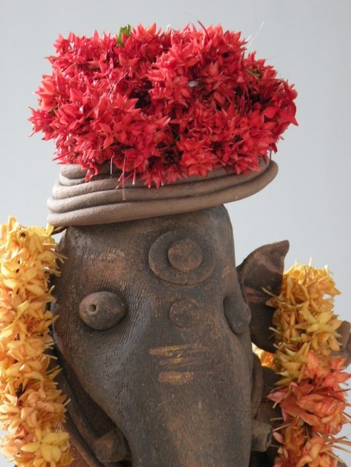 Ganesha's Red Headdress
