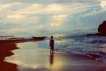 Dear (ex) Mr. WLG at Matara, the end of our first day on the island - 1992