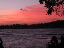 Pink, tonight, as the sun sets, Unawatuna