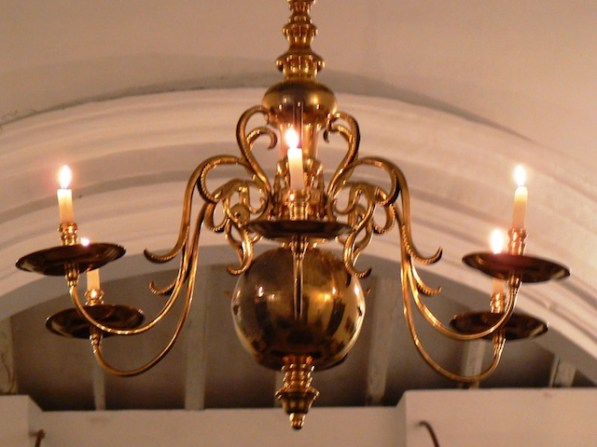 Not what I'd have done, but Mr P was proud of his new lights - faithfully reproduced from pre-electrical lighting of the period.