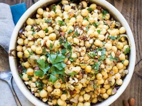 Warm Moroccan Chickpea Salad - The Wanderlust Kitchen