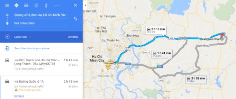 Route 1 - Longer route to Chua Chan Mountain