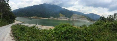 Lake-like body of water on the way to Cameron Highlands