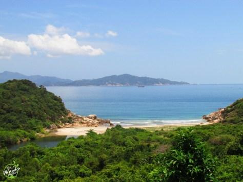 An empty beach in Cam Ranh