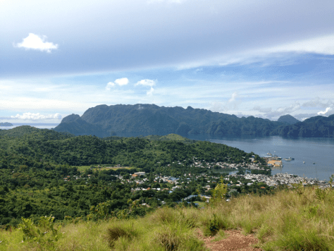 View of Coron Town and the Sleeping Giant - Backpacking Palawan