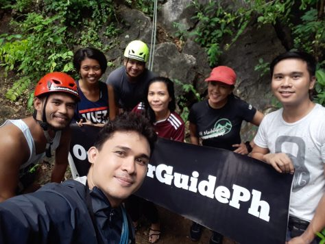 Our rock climbing group with Chito of #OutdoorGuidePH