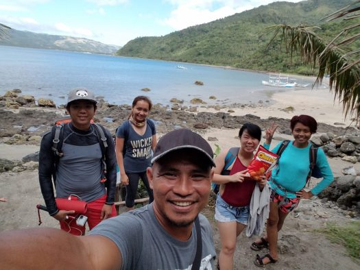 At White Beach with our guide Kuya Albert.