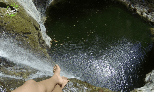 You can boulder/scramble to get to this side of the waterfalls.
