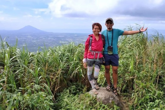 I and Peter at the summit, with Mt Maculot at the background