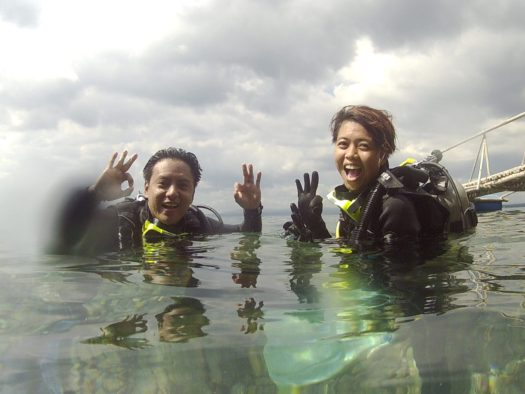 After dive pictorials