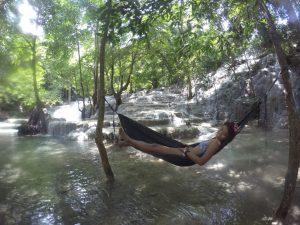 Hammock chilling at Kaparkan Falls