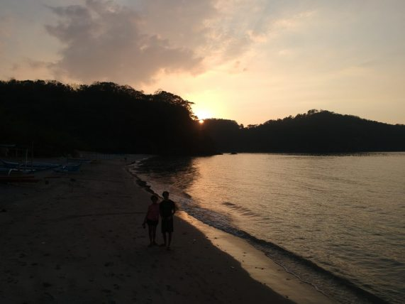 Peaceful sunset at Kaynipa Cove