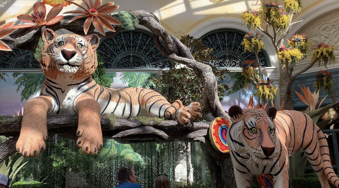 Bellagio Hotel Gardens Tigers