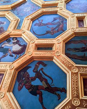 Painted Ballroom Ceiling