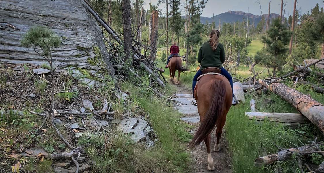 Emmy Horseback Riding Black Hills
