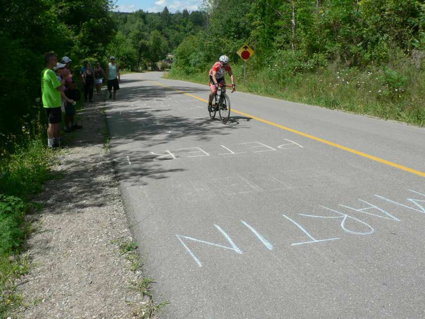 And the fans were out in force on the climb encouraging their favorite riders.