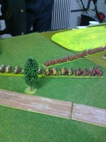 006 Hanoverian infantry and cavalry race towards Langenbruck