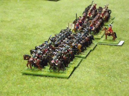 016 French cavalry drawn up for battle