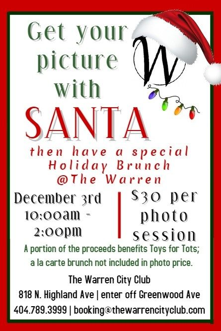 Santa Pictures Session $30 & a la carte Holiday Brunch