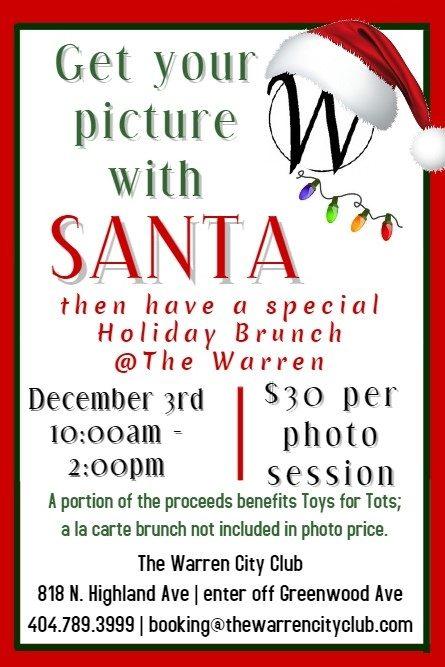 Santa Pictures Session $30 & a la carte Holiday Brunch