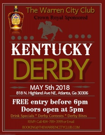 You;re invited to The Warren City Club's Kentucky Derby Watch Party May 5th