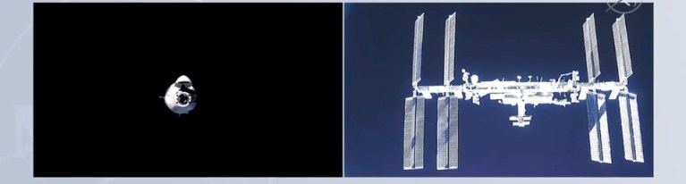 Space X's Dragon Docks With International Space Station With NASA