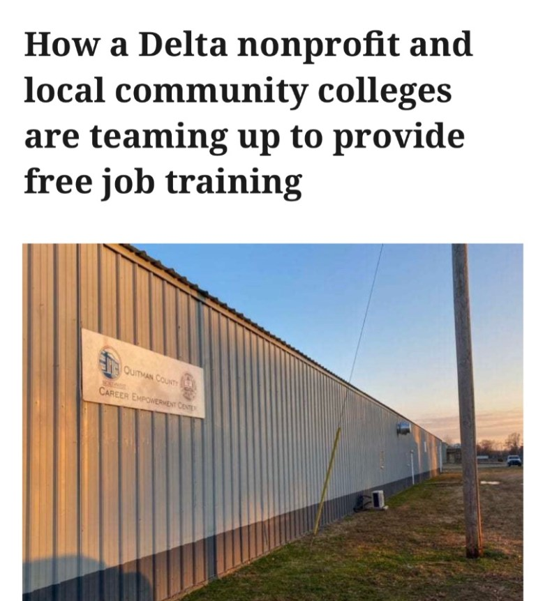 How a Delta nonprofit and local community colleges are teaming up to provide free job training