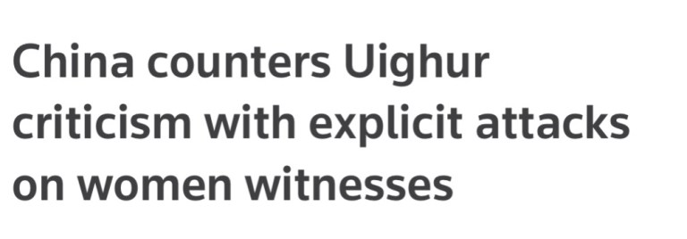 China Targets Muslim Women Witnesses.