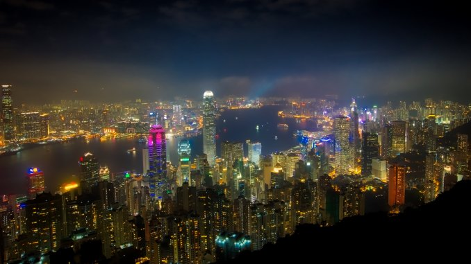 Hong Kong skyline from above