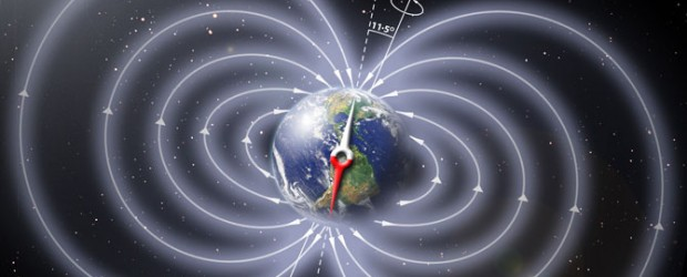 The Watchers Tweet Tweet 41,000 years ago, a complete and rapid reversal of the geomagnetic field occurred. As a consequence, the Earth nearly completely lost its protection shield against hard cosmic rays, leading to a significantly increased radiation exposure, a new study led byDr. Norbert Nowaczyk andProf. Helge Arz claims. Ageomagnetic reversalis a change in theEarth's magnetic fieldsuch that the positions of magnetic north and magnetic south are interchanged. TheEarth's field has alternated between periods...