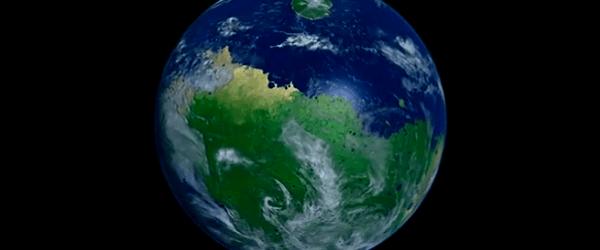 Vea una animación interesante por Kevin McGill, que muestra un día en la vida de Marte.  Generado a partir de datos de la Mars Orbiter Laser Altimeter a bordo de la nave espacial Mars Global Surveyor y las imágenes de satélite del proyecto Generación Siguiente Marble Azul.  El nivel del mar se estableció no científicamente, pero de tal manera que inundaría gran parte de Valles Marineris, así como proporcionar la costa cerca de la parte superior de los acantilados en los bordes exteriores de Olympus Mons.  Las nubes son directamente de azul de la NASA del proyecto NG Mármol y la altura asignada (y no arbitraria, pero se ve bien) por la opacidad relativa (la más opaca un punto, ...