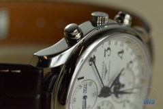 Longines Master Collection Moon Phase: Unboxing Review [L2.673.4.78.3 ] On side with crown side up