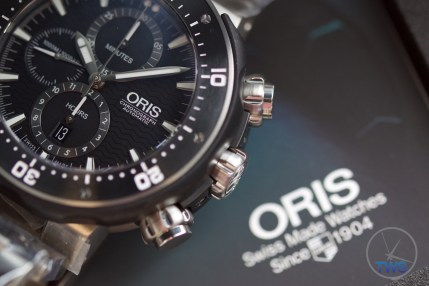 Unboxing Review: Oris ProDiver Chronograph 01 774 7683 7154-Set1Oris ProDiver Chronograph sitting on supplied manual. © 2016 blog.thewatchsource.co.uk ALL RIGHTS RESERVED