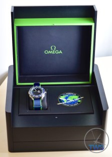The limited edition presentation box for the Omega Speedmaster X-33 Skywalker Solar Impulse [318.92.45.79.03.001] with lid open © 2016 blog.thewatchsource.co.uk ALL RIGHTS RESERVED