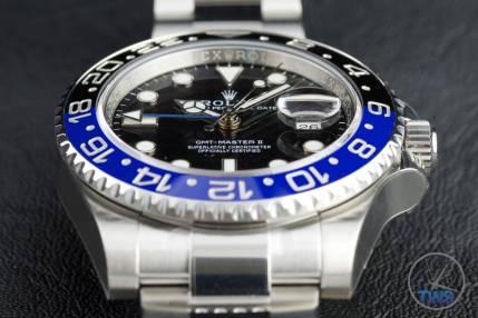 Review of the Rolex GMT Master II [116710BLNR] aka 'The Batman' Dial closeup
