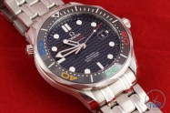 Omega Rio 2016 Olympic Limited Edition Seamaster Diver 300m: Hands On Review [522.30.41.20.01.001] - Laying flat on its back