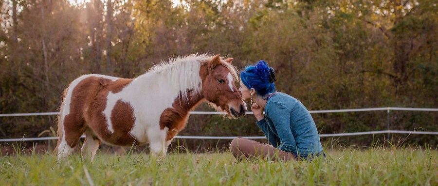 the practice of being present was the biggest factor in transforming the relationship with this horse from fear to curiosity to deep connection