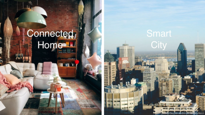Connected homes and smart cities