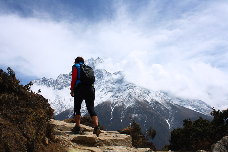 Sophie on the path to everest base camp