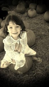 Miranda in the Pumpkin Patch 2014