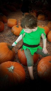 Kaelan in the Pumpkin Patch 2014
