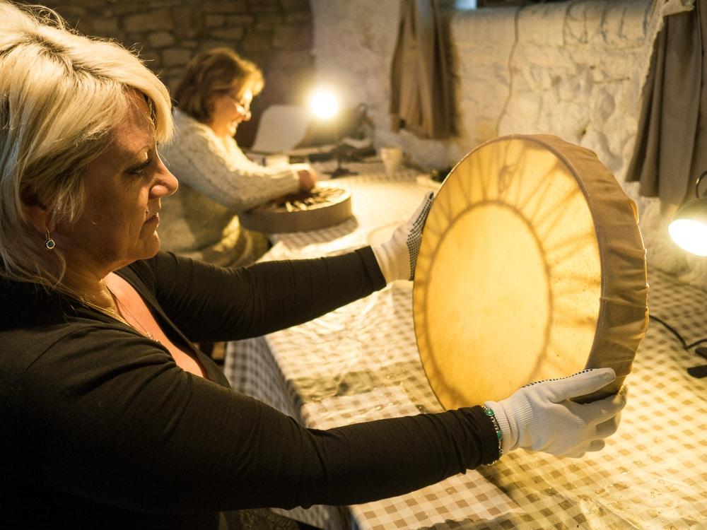 drum making workshop at The Bay Horse