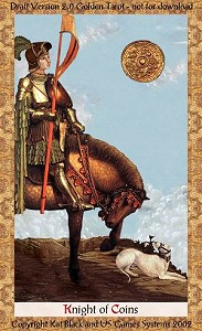 Nose to the Grindstone, Eye on the Prize: Knight of Coins (Pentacles, Disks)