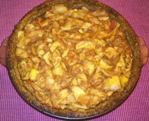 apple pie (with no butter, no oil, no egg, no dairy) plant-based